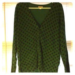 🆕 Merona Green Argyle Cardigan Size XXL